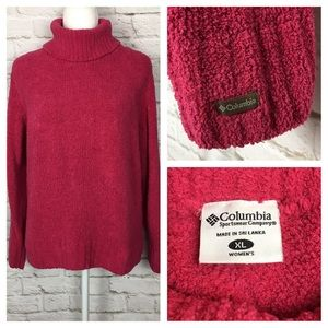 Columbia | Plush Turtleneck Sweater Hot Pink